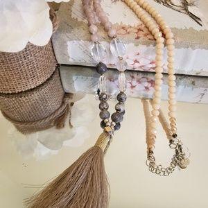 Nakamol Long Tassel Necklace